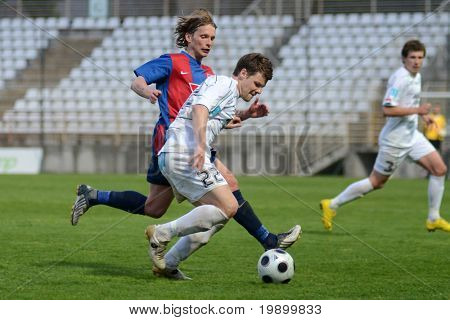 KAPOSVAR, HUNGARY - APRIL 20: Bojan Pavlovic (22) in action at a Hungarian National Cup soccer game Kaposvar vs Videoton April 20, 2011 in Kaposvar, Hungary.