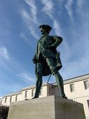 Bronze statue of Captain Cook in Greenwich, London