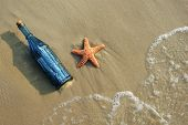 Message In A Bottle And Starfish