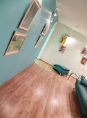pic of anteroom  - warm lighting in the aqua color sitting - JPG