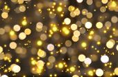 stock photo of reveillon  - Golden lights - JPG