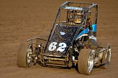 PHOENIX, AZ - FEBRUARY 21: Dennis Howell (62) competes in the USAC Copper on Dirt auto race at the M