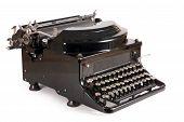 Постер, плакат: Старая пишущая машинка изолированные на белом фоне
