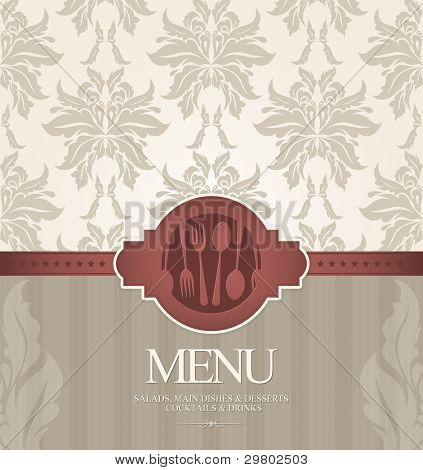 Restaurant menu design, with seamless background