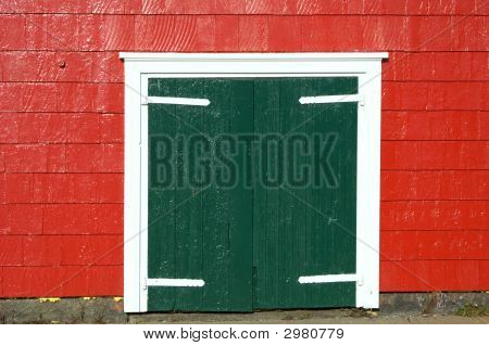 Painted Wooden Door