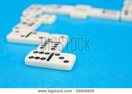 Bricks of domino. Blue and grey series