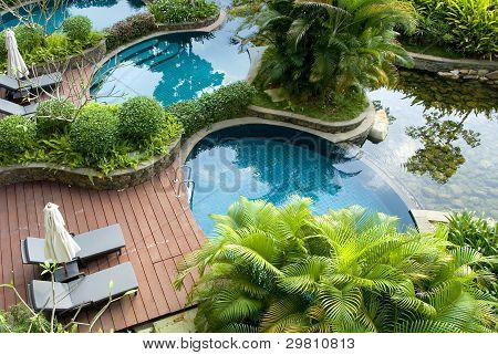 Swimming pool, fresh and cool world