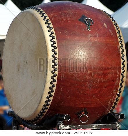 Large Chinese Wooden Drum