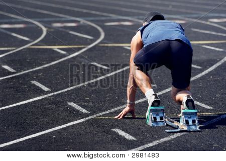 Older Man In A Race