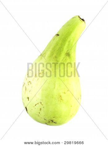 Green Calabash On White Background