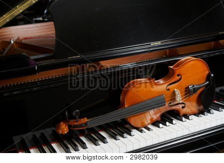 Violine am piano