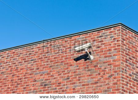 White Surveillance Camera