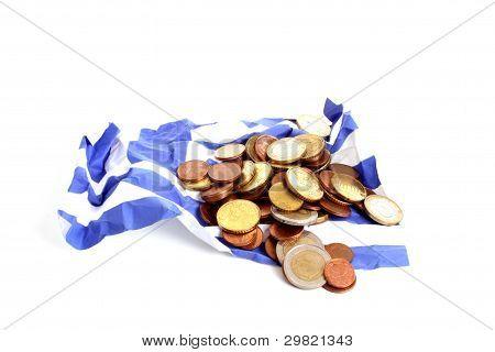 Wrinkled Greek Flag