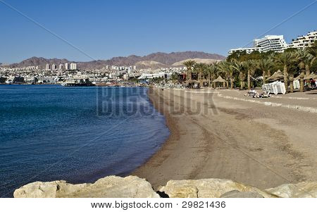 View on the Aqaba gulf and Eilat ,Israel