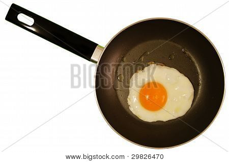 Fried egg - clipping path