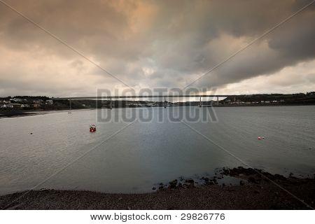 Cleddau Bridge  In Pembrokeshire