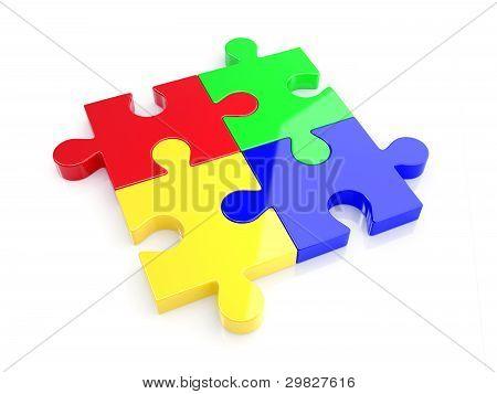 Color Puzzle Concept