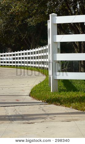 White Corral Fence