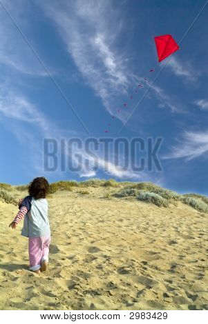 Boy And Red Kite