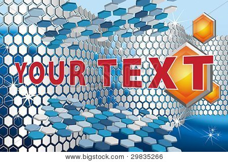 3D vector abstract background with hexagons, Vector format EPS 8, CMYK.