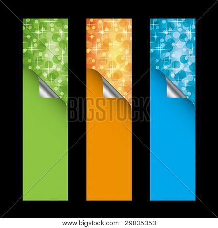 Vector vertical banners, templates, Vector format EPS 8, CMYK.
