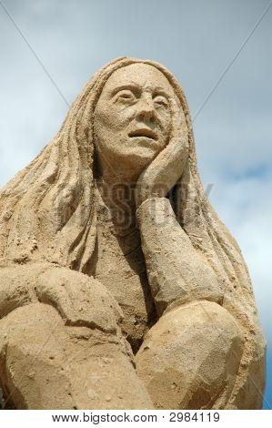 Sad Sand Woman