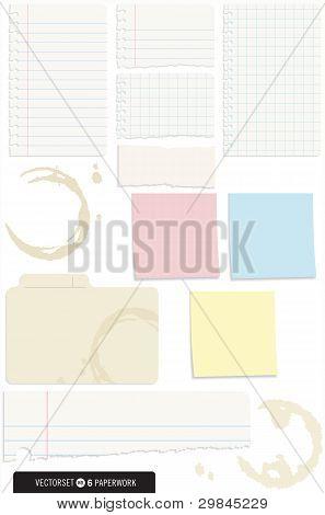 Set of 10 Note Paper Vectors