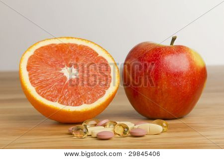 Dietary supplement vs fruits