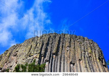 Looking Up To Devil's Tower