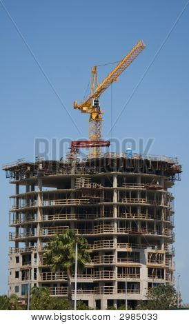 Business Building Contruction Crane