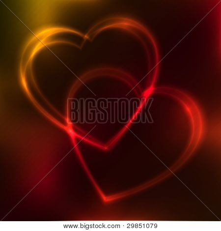 Colorful neon love background