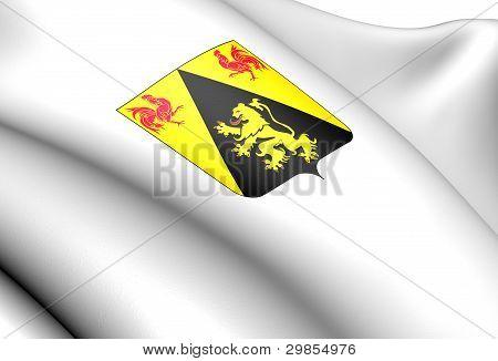 Walloon Brabant Coat Of Arms, Belgium.