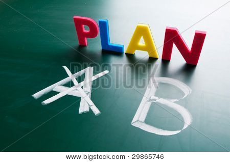 Crossing Out Plan A And Writing Plan B.