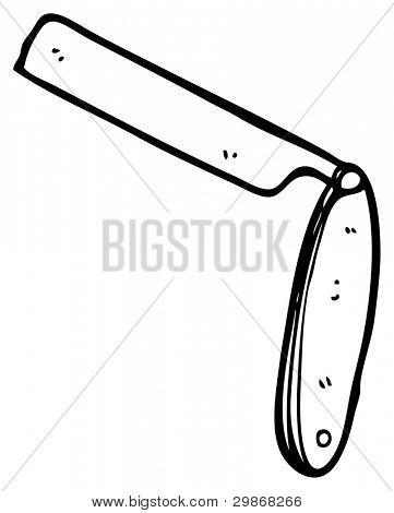 cut throat razor cartoon