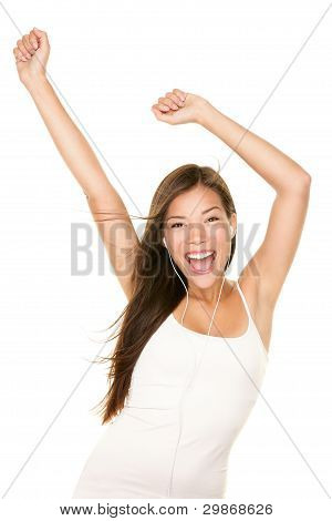 Mp3 Music Player Woman Dancing