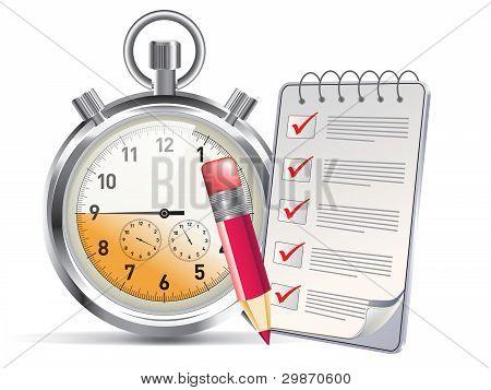 Clock And Notepad