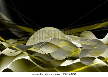 High Resolution Business Background In Black, Yellow, And Gold