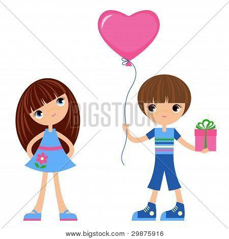 Children with balloon heart