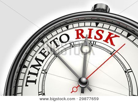 El riesgo de tiempo concepto reloj Closeup