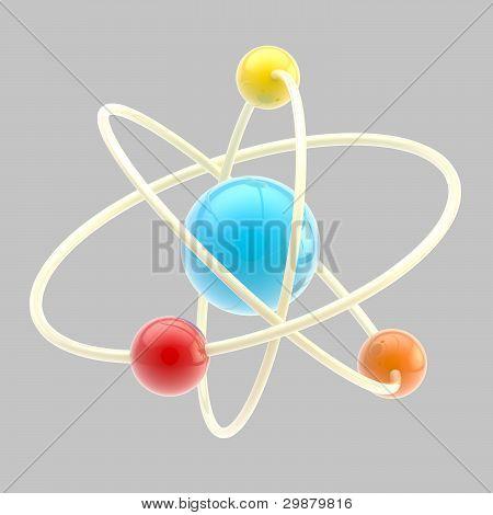 Atom symbol isolated
