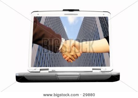 Handshake In Laptop
