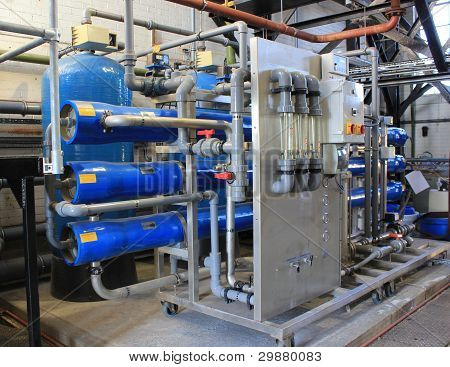 water treatment plant for steam boilers