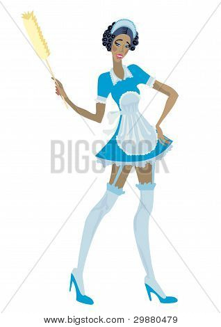 A Beautiful Woman Is A Housemaid