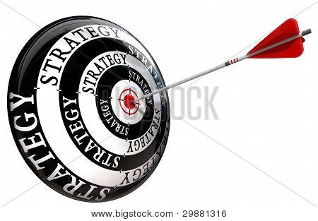 Strategy Word On Target Conceptual Image Isolated On White Background