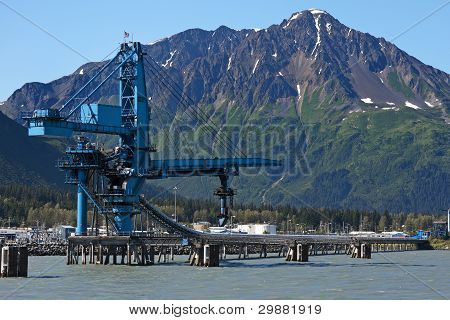Loading Installation For Coal Into Ships At Seward - Alaska.
