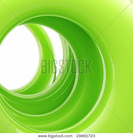 Abstract background: green tonnel made of twirl