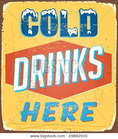 Vintage tin sign - Vector EPS10. Grunge effects can be removed.
