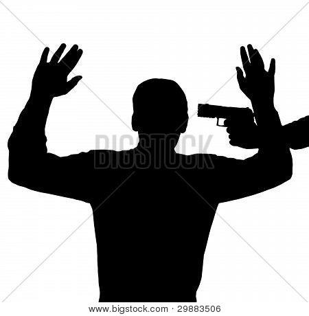 Gewehr gegen Kopf