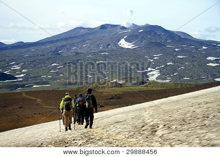 Leaving Mutnovsky Volcano