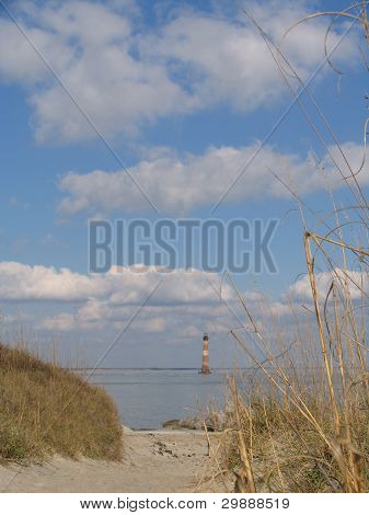 Farol da ilha de Morris, Folly Beach, SC